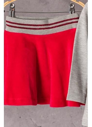 Zeyland Simli Baskılı T-shirt ve Simli Kemerli Etek Takım (6ay-4yaş) Simli Baskılı T-shirt ve Simli Kemerli Etek Takım (6ay-4yaş) Gri